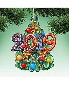 Celebrate 2019 Wooden Ornament, Set of 2