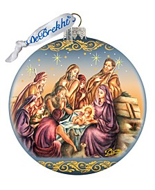 Nostalgic Family Nativity Limited Edition Hand Painted Glass Ornament