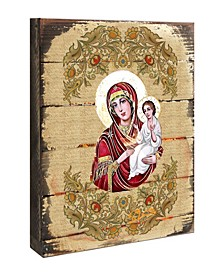 Icon Virgin Mary Directress Wooden Wall Art 8""