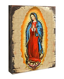 Icon Lady of Guadalupe Wall Art on Wood 16""