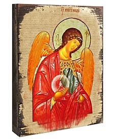 "Icon Archangel Michael Wall Art on Wood 8"""