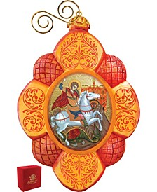 Hand Painted Saint George Scenic Ornament