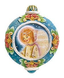 Hand Painted Scenic Ornament Angel Ornament