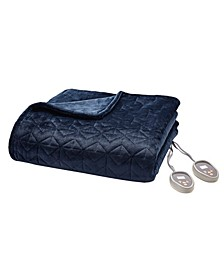 Pinsonic Heated Quilted Blanket, Queen 90 x 84