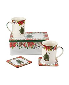Christmas Tree 2020 Annual 5 Piece Mug, Tin and Coaster Set