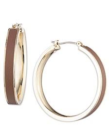 "Gold-Tone Medium Hoop Earrings, 1.5"""