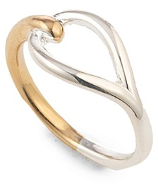 Two-Tone Open Leaf Ring
