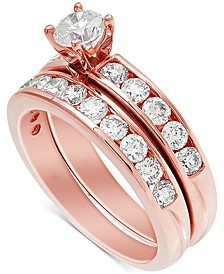 Diamond Channel-Set Bridal Set (2 ct. t.w.) in 14k Rose Gold