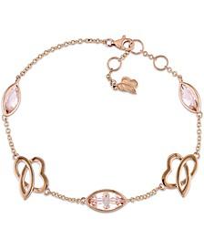 Morganite & Heart Charm Bracelet (2-7/8 ct. t.w.) in 14k Rose Gold