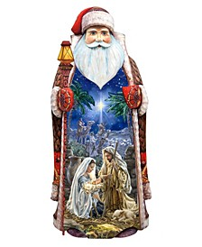 Woodcarved Hand Painted The Glory Nativity Woodcarved Figurine by Donna Gelsinger