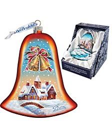 Housewarming Bell Glass Ornament