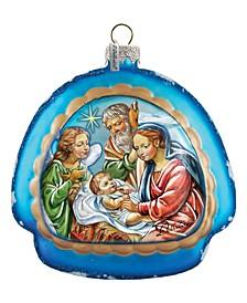 Limed Nativity Rainbow Ornament