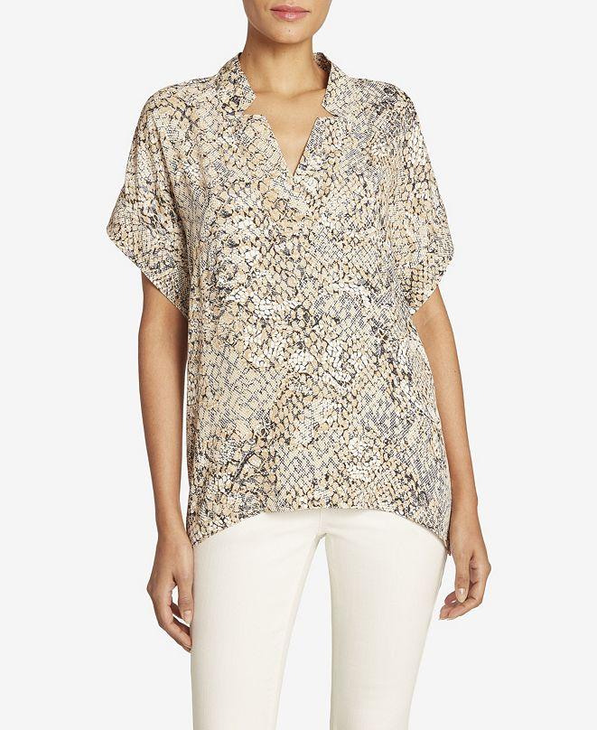 Jones New York Women's Short Sleeve Crossover Top