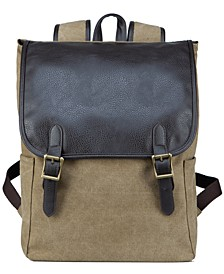 Men's Flap-Top Canvas Backpack