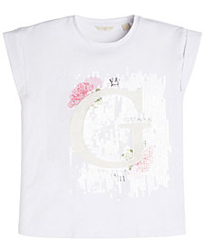 GUESS Big Girls Embellished Logo T-Shirt
