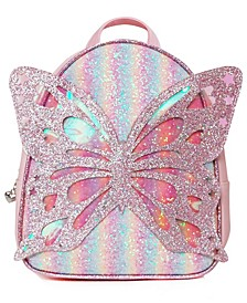 Girls Miss Butterfly Sugar Glitter Striped Mini Backpack