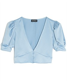 Cropped Puff-Sleeve Top, Created for Macy's