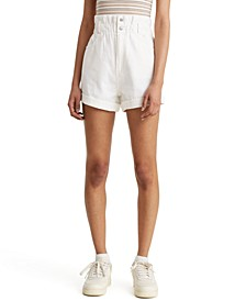 Cotton Paperbag Shorts