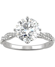 Moissanite Twist Engagement Ring (2-1/3 ct. t.w. DEW) in 14k White Gold