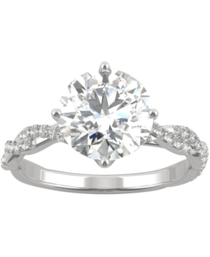 Moissanite Twist Engagement Ring (2-1/3 ct. t.w. Dew) in 14k White Gold