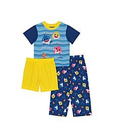 Baby Shark Toddler Boy 3 Piece Pajama Set