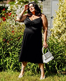 Plus Size Satin Midi Dress, Created for Macy's