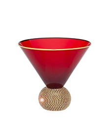 Red Bling Martini Glass