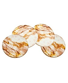 Set of  Four Tan Marble Coasters