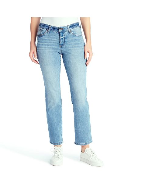 Chaps Women's Mid Rise Straight Jeans