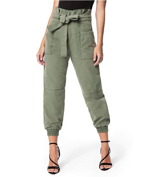 Joe's Jeans High-Waisted Paper-Bag Utility Jogger Pants