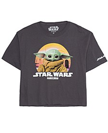 Juniors' Cotton Baby Yoda Graphic T-Shirt