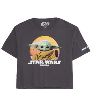 Hybrid Juniors' Cotton Baby Yoda Graphic T-Shirt