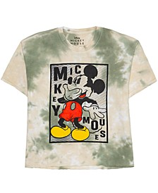 Juniors' Cotton Laughing Mickey Graphic T-Shirt