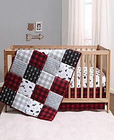 PSP Buffalo Plaid 3-Piece Crib Bedding Set