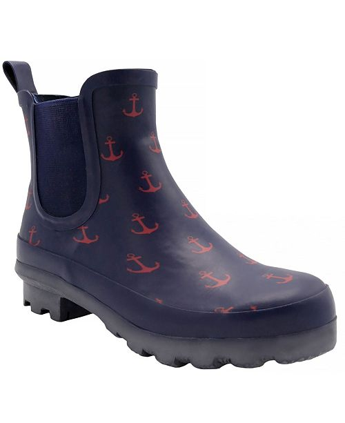 London Fog Women S Wembley Chelsea Ankle Rain Boot Reviews Boots Shoes Macy S