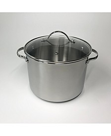 8-Qt. Stainless Steel Stockpot with Lid, Created for Macy's