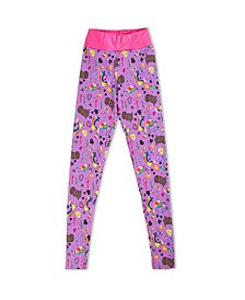 Big Girls Olivia's Doodle Active Leggings with Diva Waist