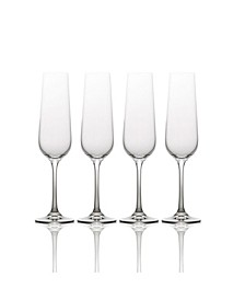 Gianna Ombre Smoke Champange Flute Glasses, Set of 4