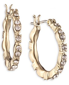 Small Crystal Hoop Earrings, 0.52""