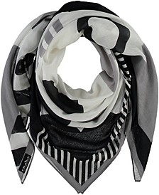 Graphic Love Square Scarf
