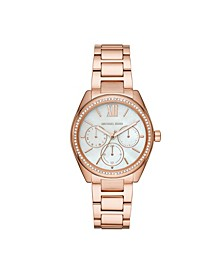 Women's Janelle Multifunction Rose Gold-Tone Stainless Steel Bracelet Watch 36mm MK7095