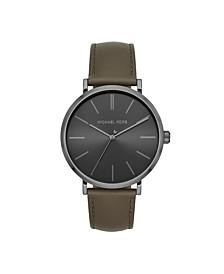 Men's Jayne Three-Hand Olive Leather Watch 42mm MK7147