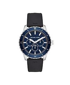 Cunningham Multifunction Black Silicone Watch 44mm MK7160