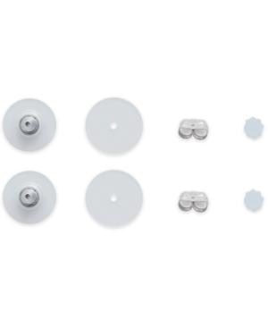 8-Pc. Set Earring Backs in White Plastic & 14k White Gold