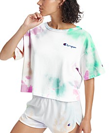 Cotton Heritage Tie-Dyed Cropped T-Shirt