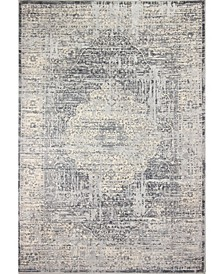 "Valley Val-01 Gray 7'6"" x 9'6"" Area Rug"
