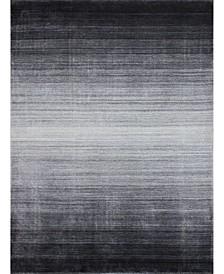 "Land Lnd-01 Gray 9'6"" x 13'6"" Area Rug"