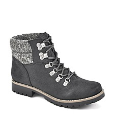 Women's Pathfield Lace-Up Lug Sole Booties