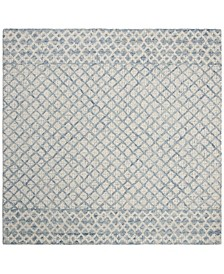 Abstract 203 Blue and Ivory 6' x 6' Square Area Rug