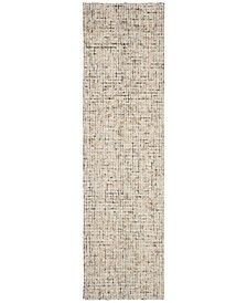 """Abstract 468 Gold and Blue 2'3"""" x 8' Runner Area Rug"""